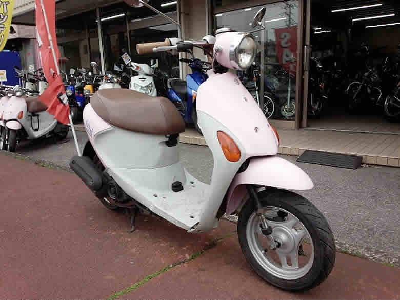 スズキ レッツ4パレット 中古車 ピンク フュールインジェクション付 4ストローク50cc