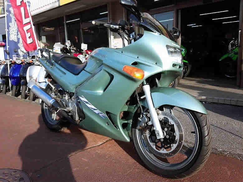 カワサキ ZZR250 中古車 エメラルドグリーン ETC+リヤキャリア+スモークスクリーン他付 水冷4サイクル250cc