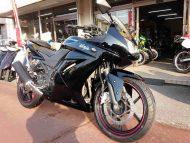 売約済 カワサキ Ninja 250R 中古車 ブラック 走行距離13,151km FI+シガーソケット電源+USB電源付 水冷4サイクル