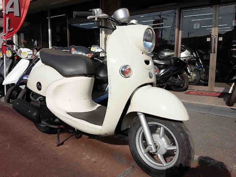 ヤマハ ビーノFI 中古 ホワイト 走行距離10,573km フューエルインジェクション付 4サイクルエンジン