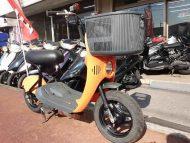 スズキ チョイノリ 中古車 オレンジ 前カゴ付き メーター走行距離2,218km 4サイクルエンジン