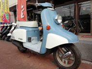 ホンダ ジュリオ 中古車 ライトブルー&ホワイト メーター走行距離4,783km 2サイクルエンジン