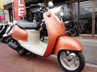 ヤマハ ビーノ 中古 オレンジ メーター走行距離7,427km シャッターキー付 2サイクルエンジン